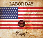 Labor day vintage vector. — Stock Vector