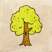 зеленое дерево с полым. — Cтоковый вектор