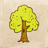 Green Tree with a Hollow. — Vector de stock