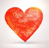 Watercolor vector heart for vintage design. — Stock Vector
