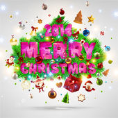 Merry Christmas lettering. — Vector de stock