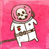 Dead Cosmonaut in a Spacesuit. — Stock Vector