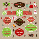 Christmas decoration collection — Stock Vector