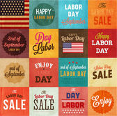 American Labor day designs set. — Stock Vector