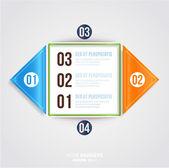 Modern Infographic iş tasarım şablonu. — Stok Vektör
