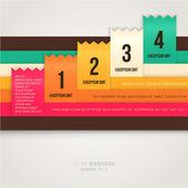 Modern renkli afiş şeritler — Stok Vektör