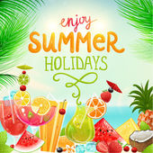 Summer holidays vector illustration — Stock Vector