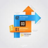Iş için modern Infographic şablonu — Stok Vektör