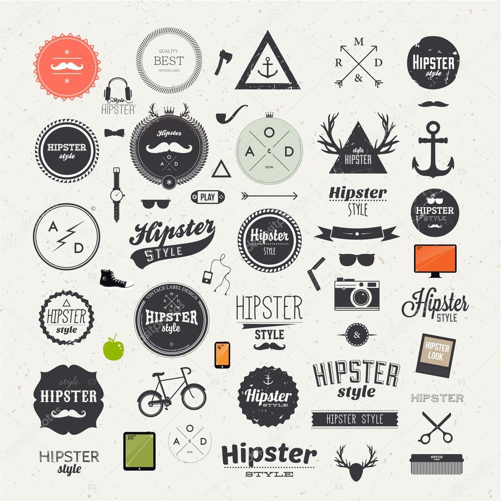 Hipster style infographics elements and icons set — Stock Vector ... Vintage Camera Backgrounds