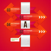 Modern infographic template for business design. — Stock Vector