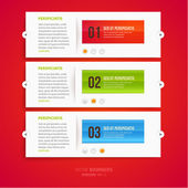 Modern infographic template for business design. — Stockvektor