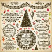 Jul dekoration samling — Stockvektor