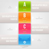 Modern infographic template for business design. — ストックベクタ