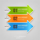 Modern infographic template for business design. — Stock vektor