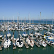 Docked boats — Stock Photo