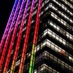 Rainbow offices — Stock Photo