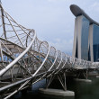 Helix Bridge & Marina Bay Sands — Stock Photo