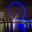 London Eye at night — Stock Photo