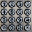 Metal number pad — Stock Photo