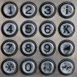 Stock Photo: Metal number pad