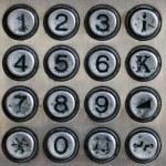 Metal number pad — Stock Photo #13867146