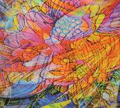 Multicolored textile background — Stock Photo
