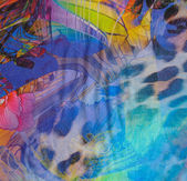 Abstract multicolored textile background — Stock Photo