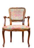 古典的な木製椅子ヴィンテージ白で隔離されます。 — ストック写真