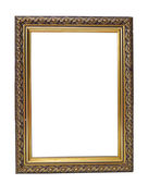 Empty vintage golden frame — Stock Photo