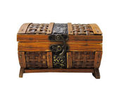 Wood chest isolated — Stock Photo
