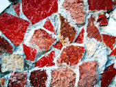 Kırmızı kiremit ve taş arka plan — Stok fotoğraf