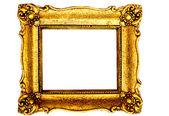 золотая рамка изолированный белый фон — Стоковое фото