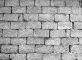 Wall of gray Concrete blocks — Stock Photo