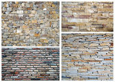 Stone wall collage — Stock Photo