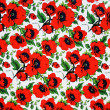 Red poppy flowers background — Stock Photo #18341325