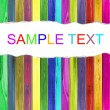 Colorful wood background with text spase — Stock Photo
