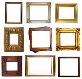 Collage of antique and wooden frames — Stock Photo