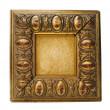 Royalty-Free Stock Photo: Antique golden frame isolated on white