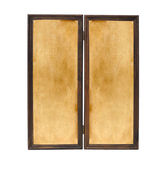 Two vintage wooden frames isolated — 图库照片