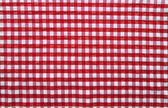 Straight red picnic cloth — Stock Photo