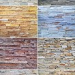 Stone collage background - Foto de Stock  