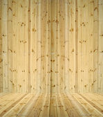 Abstract wooden room — Stock Photo