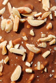 čokoládové mandlové zmrzlina makro textura — Stock fotografie