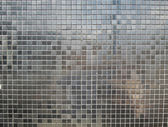Silver tiles background — Stock Photo