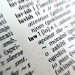 Stock Photo: Law word in dictionary