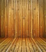 Golden wooden room — Stock Photo