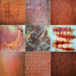 Collage of rusted metal texture — Stock Photo