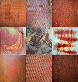 Collage de texture en métal rouillé — Photo