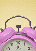 Retro purple clock — Stock Photo