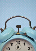 Retro turquoise clock — Stock Photo